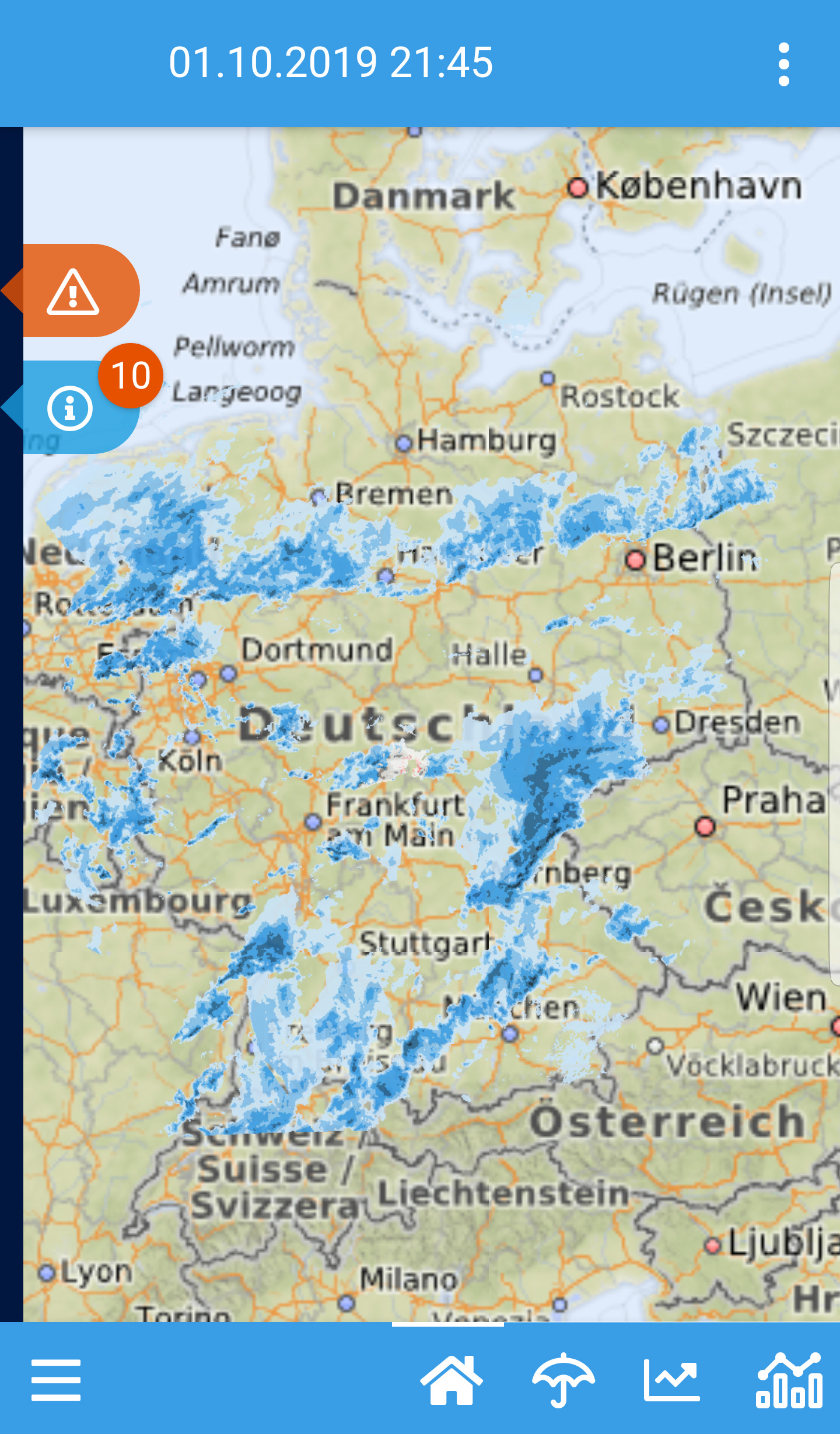 Einsatzwetter-App_Startscreen