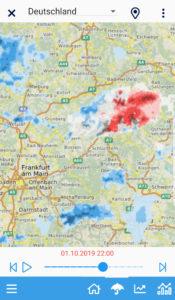 Einsatzwetter-App für Winterdienste und Sommerdienste Radar